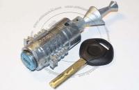 Личинка замка передней левой водительской двери BMW 5 Series / БМВ 5 серии в комплекте с ключом зажигания