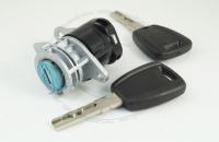 Личинка замка передней левой (водительской) двери, передней правой (пассажирской), задней и боковой сдвижной двери Citroen Jumper 2 2006+ в комплекте с ключами зажигания (лезвие SIP22)