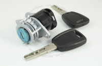 Личинка замка передней левой (водительской) двери, передней правой (пассажирской), задней и боковой сдвижной двери Peugeot Boxer 3 2006+ в комплекте с ключами зажигания (лезвие SIP22)