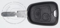 Ключ зажигания для Citroen (Ситроен) с 2-мя кнопками, без ДУ, без чипа, с лезвием NE78