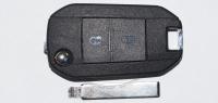 Ключ зажигания для Citroen (Ситроен) с 2-мя кнопками, без ДУ, без чипа, с лезвием HU83