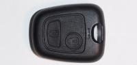 Корпус ключа зажигания для Peugeot (Пежо) с 2-мя кнопками, без ДУ, без чипа, под лезвия NE78, HU83, VA2