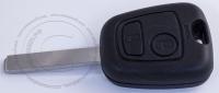 Чип-ключ зажигания Peugeot (Пежо) с 2-мя кнопками, чипом ID46, лезвием VA2 и ДУ 433 Mhz.