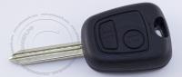 Чип-ключ зажигания Peugeot (Пежо) с 2-мя кнопками, чипом ID46, лезвием SX9 и ДУ 433 Mhz.