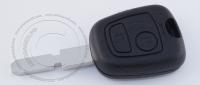 Ключ зажигания для Peugeot (Пежо) с 2-мя кнопками, без ДУ, без чипа, с лезвием NE78
