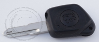 Ключ зажигания для Peugeot (Пежо) с фонариком, без чипа, БЕЗ ду, с лезвием NE73
