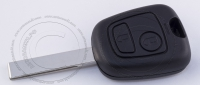 Ключ зажигания для Peugeot (Пежо) с 2-мя кнопками, без ДУ, без чипа, с лезвием HU83