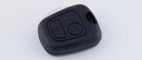 Корпус ключа зажигания для Peugeot (Пежо) с 2-мя кнопками, без ДУ, без чипа, под лезвие NE73