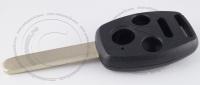 Корпус ключа зажигания Honda с местом под чип, 3 кнопки + 1 (Panic), кнопка паника, без ДУ, без чипа, лезвие HON66