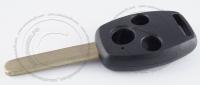 Корпус ключа зажигания Honda с местом под чип, 3 кнопки, без ДУ, без чипа, лезвие HON66