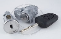 Комплект личинок Chevrolet TrailBlazer 2013-2015 (31UX) на 2 замка: зажигание, водительская дверь + ключ зажигания (лезвие HU100)