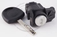 Личинка замка передней левой водительской двери Opel (пластмассовый корпус) в комплекте с ключом зажигания (лезвие HU100)