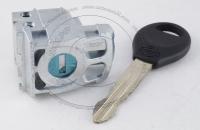 Личинка замка передней левой водительской двери Nissan Qashqai 2006-2013 (J10) в комплекте с ключом зажигания (лезвие NSN14)