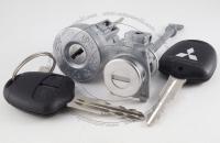 Комплект личинок Mitsubishi ASX 2010-2016 (GA) на 2 замка: зажигание, водительская дверь + 2 ключа зажигания (лезвие MIT11)