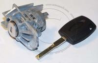 Личинка замка передней левой водительской двери Ford Focus 3 / Форд Фокус 3 в комплекте с ключом зажигания