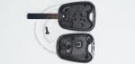 Ключ зажигания для Citroen (Ситроен) с 2-мя кнопками, без ДУ, без чипа, с лезвием VA2