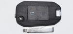 Выкидной ключ зажигания Citroen, 2 кнопки, без ДУ, без чипа, лезвие HU83 (заготовка, корпус)