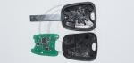 Чип-ключ зажигания Citroen (Ситроен) с 2-мя кнопками, чипом ID46, лезвием HU83 и ДУ 433 Mhz.