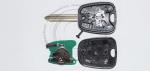Чип-ключ зажигания Citroen (Ситроен) с 2-мя кнопками, чипом ID46, лезвием SX9 и ДУ 433 Mhz.