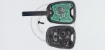 Чип-ключ зажигания Citroen (Ситроен) с 2-мя кнопками, чипом ID46, лезвием VA2 и ДУ 433 Mhz.