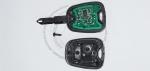 Чип-ключ зажигания Citroen (Ситроен) с 2-мя кнопками, чипом ID46, лезвием NE73 и ДУ 433 Mhz.