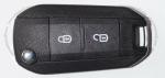 Выкидной ключ зажигания Peugeot (Пежо), 2 кнопки, без ДУ, без чипа, лезвие HU83 (заготовка, корпус)