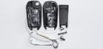 Выкидной ключ зажигания для Peugeot (Пежо) с 2-мя кнопками, без ДУ, без чипа, с лезвием HU83