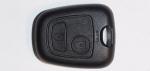 Корпус ключа зажигания Peugeot (Пежо), 2 кнопки, без ДУ, без чипа, без лезвия (под NE78, HU83, VA2)