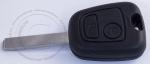 Чип-ключ зажигания Peugeot (Пежо), 2 кнопки, ДУ 433Mhz, лезвие VA2, чип ID46 (PCF-7961/PCF7922)