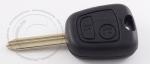 Ключ зажигания Citroen (Ситроен), 2 кнопки, без ДУ, без чипа, лезвие SX9 (заготовка, корпус)