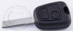 Чип-ключ зажигания Peugeot (Пежо), 2 кнопки, ДУ 433 Mhz, лезвие HU83, чип ID46 (PCF-7961/PCF7922)