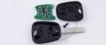 Чип-ключ зажигания Peugeot (Пежо) с 2-мя кнопками, чипом ID46, лезвием HU83 и ДУ 433 Mhz.