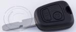 Чип-ключ зажигания Peugeot (Пежо), 2 кнопки, ДУ 433 Mhz, лезвие NE78, чип ID46 (PCF-7961/PCF7922)