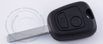 Ключ зажигания Peugeot (Пежо), 2 кнопки, без ДУ, без чипа, лезвие VA2 (заготовка, корпус)