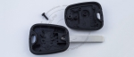 Ключ зажигания для Peugeot (Пежо) с 2-мя кнопками, без ДУ, без чипа, с лезвием VA2