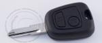 Ключ зажигания Peugeot (Пежо), 2 кнопки, без ДУ, без чипа, лезвие NE73 (заготовка, корпус)