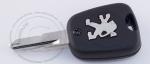 Ключ зажигания для Peugeot (Пежо) с 2-мя кнопками, без ДУ, без чипа, с лезвием NE73