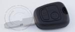 Ключ зажигания Peugeot (Пежо), 2 кнопки, без ДУ, без чипа, лезвие NE78 (заготовка, корпус)