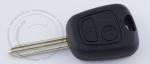 Ключ зажигания Peugeot (Пежо), 2 кнопки, без ДУ, без чипа, лезвие SX9 (заготовка, корпус)
