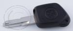Ключ зажигания Peugeot (Пежо) с фонариком, без чипа, без ДУ, лезвие NE73 (заготовка, корпус)