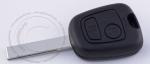Ключ зажигания Peugeot (Пежо), 2 кнопки, без ДУ, без чипа, лезвие HU83 (заготовка, корпус)