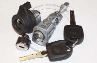 Комплект личинок  Volkswagen Jetta (Sagitar): замок зажигания, замок левой двери, замок бардачка, 2 ключа зажигания.