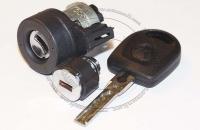 Комплект личинок Volkswagen / Фольксваген: замок зажигания, замок бардачка,  ключ зажигания.